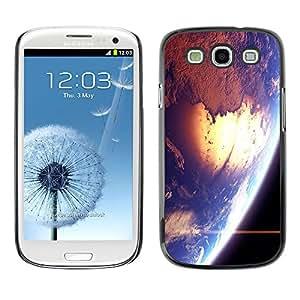Qstar Arte & diseño plástico duro Fundas Cover Cubre Hard Case Cover para SAMSUNG Galaxy S3 III / i9300 / i747 ( Space Earth Sun Blue Planet Cosmos Star)