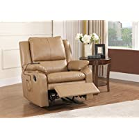 Kings Brand Light Brown Massage Wall-A-Way Recliner Chair