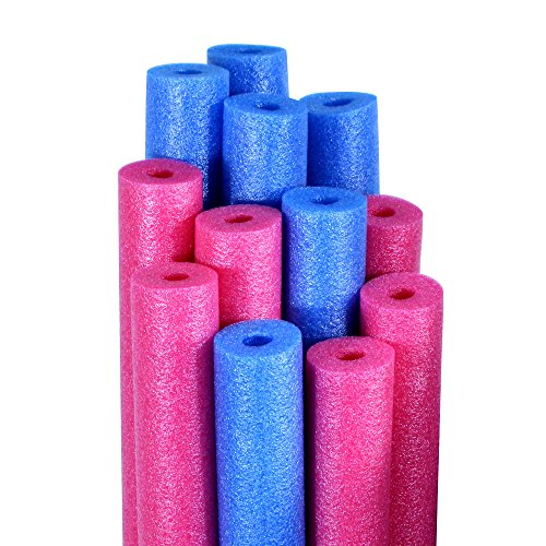 Robelle Pool Water Noodles Blue and Pink 12-Pack