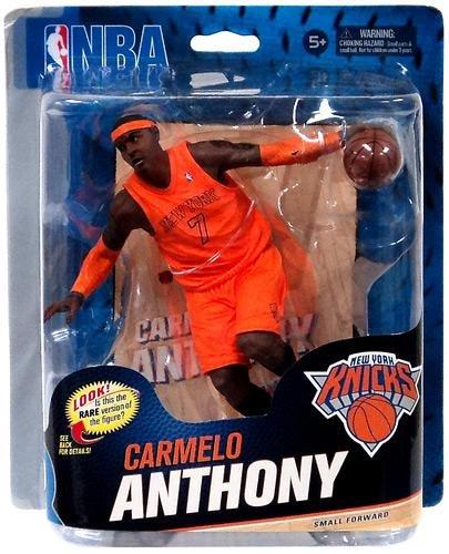 Nba Christmas Uniform - NBA Series 23 Carmelo Anthony Orange Christmas Uniform Collector Level Action Figure