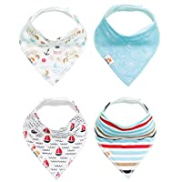 Natemia Cute Baby Bandana Drool Bibs, Soft and Absorbent, Perfect Baby Gift S...