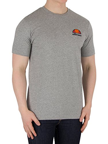 ellesse Canaletto Cotton Basic Logo Grey MARL T-Shirt L Grey MARL