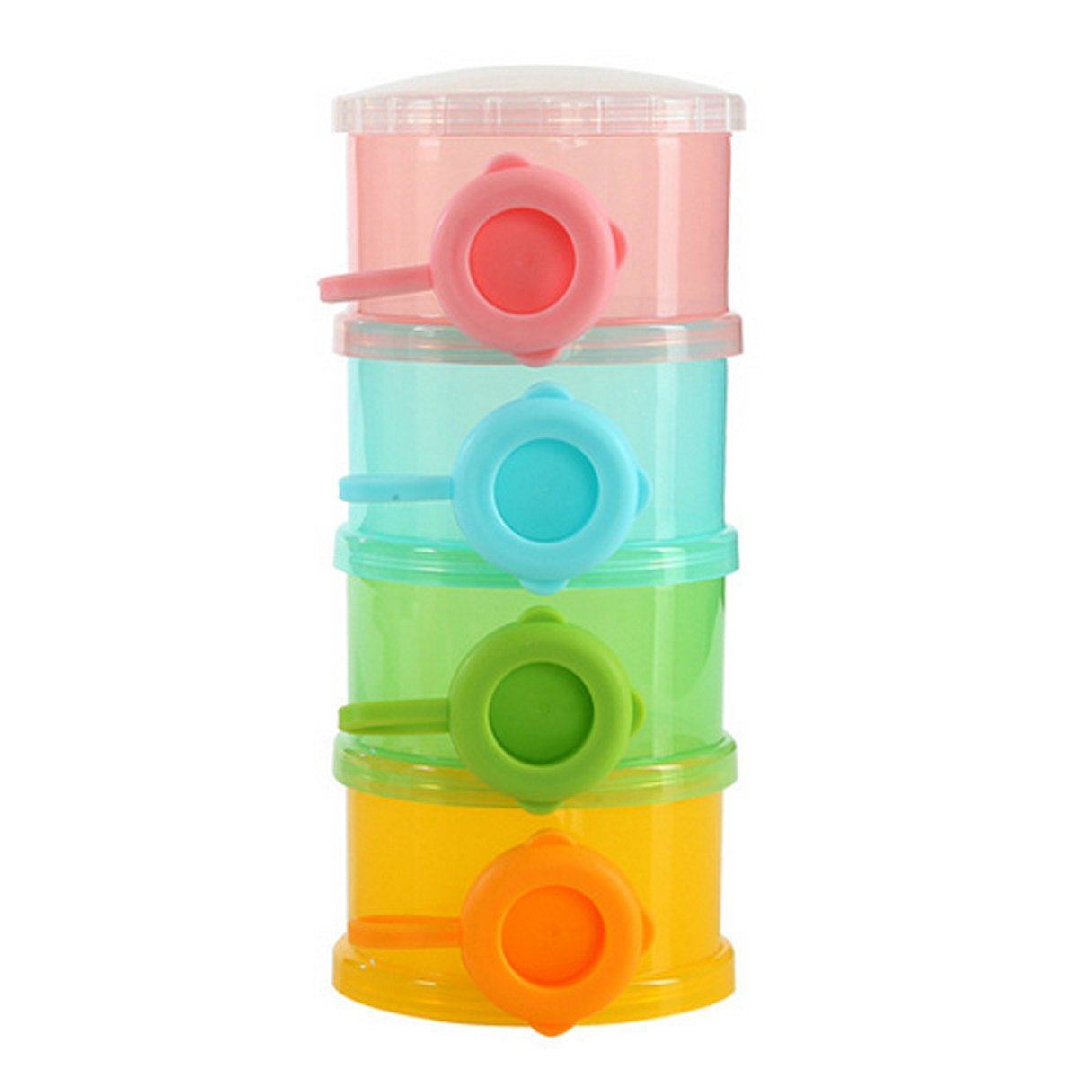 Mily Stackable Milk Powder Dispenser Formula Dispenser Snack Container (Multicolor)