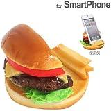 各種 スマートフォン 対応 食品サンプル スマホ スタンド / チーズバーガー