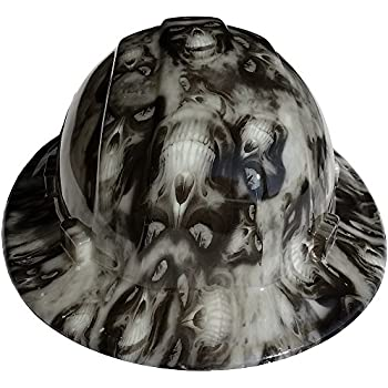 Texas America Safety Company Hades Full Brim Style Hydro Dipped Hard Hat -  Glow in the Dark 1d9d6b323914