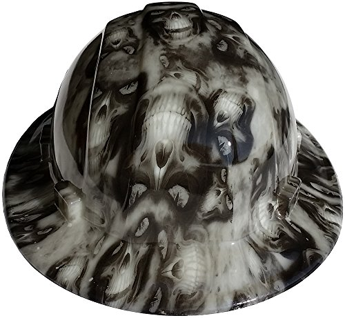 Texas America Safety Company Hades Full Brim Style Hydro Dipped Hard Hat - Glow in the Dark]()