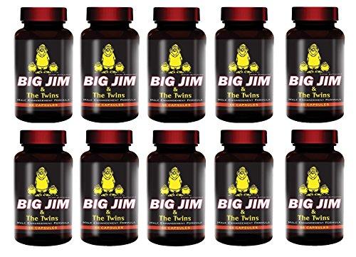 Big Jim & The Twins Male Enhancement All Natural Formula 60 Pills Per Bottle 10 Bottles