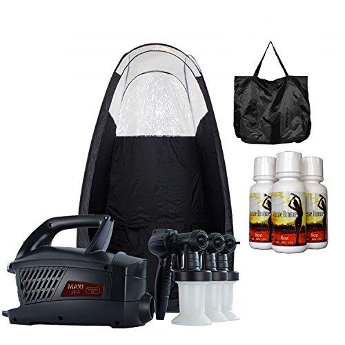 Maximist Evolution TNT Spray Tanning HVLP System with Black Popup Tan Tent