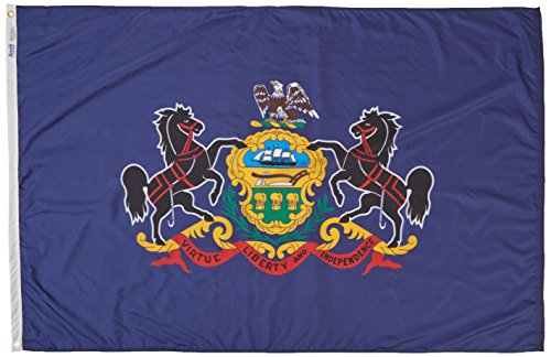 Cheap Annin Flagmakers Model 144670 Pennsylvania State Flag 4×6 ft. Nylon SolarGuard Nyl-Glo 100% Made in USA to Official State Design Specifications.