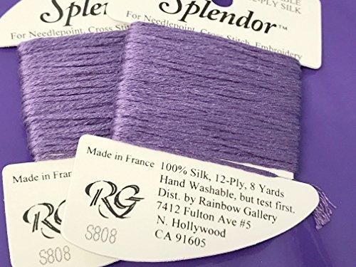 (Splendor Silk THREAD-COLOR-S808-MEDIUM Purple-1 Card in This Listing-)