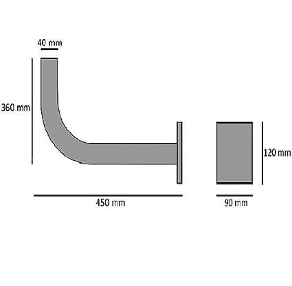 Diesl.com - Soporte parabolica en l sp40 | Antenas de 95: Amazon.es: Electrónica