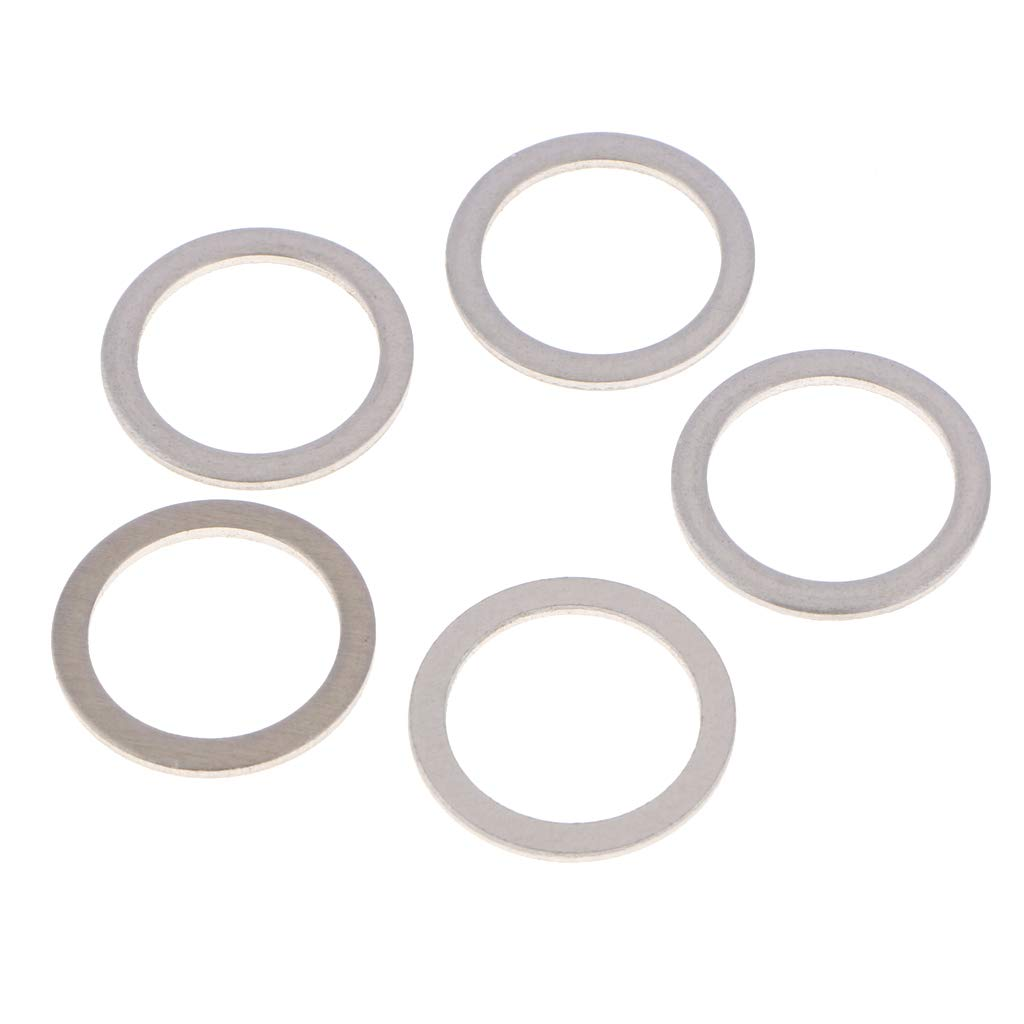 Homyl 10 Pieces Aluminum Grommets Seal Rings Drain Plug Crush Washers Gaskets for Toyota Lexus