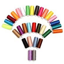 Sewing Threads Kit, OUTOS 30 Spools 250 Yards Mixed Assorted Colors Polyester Sewing Threads for Hand Machine Sewing Trimming Stitching (Multicolored)