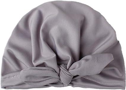 Aofocy 1 PCS b/éb/é fille /élastique Bowknot Chapeau Belle Lapin Headwrap Turban Doux Chapeau de b/éb/é pour lutilisation de tout-petit enfant Gris