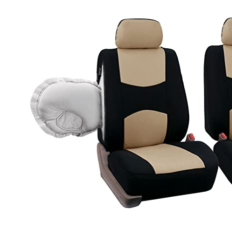 Amazon FH GROUP FB051115 Multifunctional Flat Cloth Seat Covers Airbag Compatible Split W FH1133 E Z Travel Car Tissue Dispenser Case