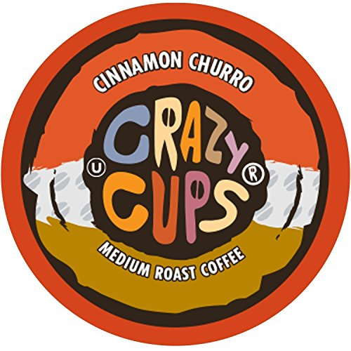 Crazy Cups Flavored Coffee, for the Keurig K Cups 2.0 Brewers, Cinnamon Churro, 22 Count