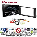 Volunteer Audio Pioneer MVH-S600BS Double Din Radio Install Kit with Bluetooth USB/AUX Fits 2002-2006 Toyota Camry with Amplified System