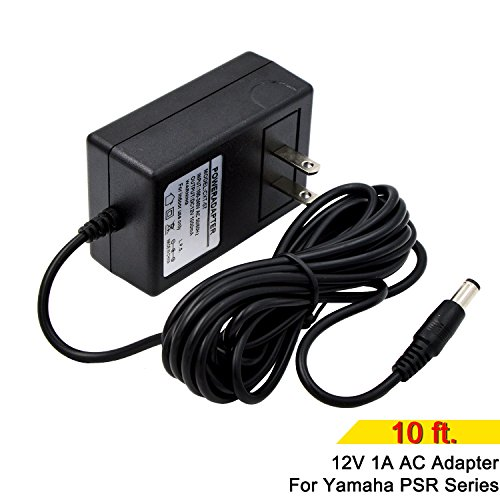 Pa 9 Series Ac Adapter (Universal 9.8 Ft 12V 1A Power Supply AC Adapter for Yamaha PSR, YPG, YPT, DGX, DD, EZ and P digital piano and portable Keyboard series (PA130 PSR-E403 and below YPT-400 and below, EZ-200 and EZ-AG))