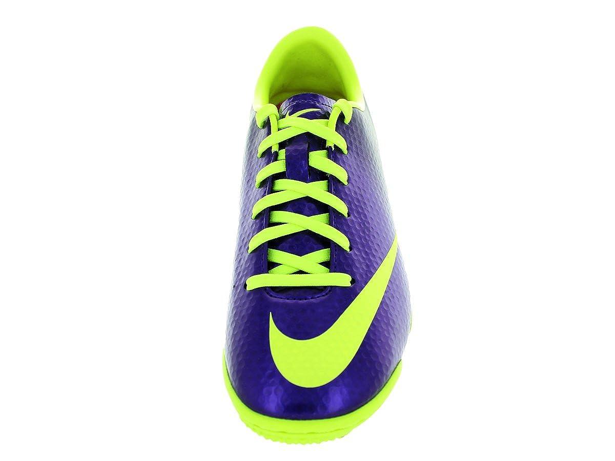 premium selection cb2e1 461b8 Nike Mercurial Victory IV TF Junior Astroturf Football Boots,  Purple Yellow, UK4  Amazon.co.uk  Shoes   Bags