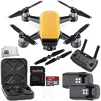 DJI Spark Quadcopter (Sunrise Yellow) + DJI Spark Remote Essential Bundle