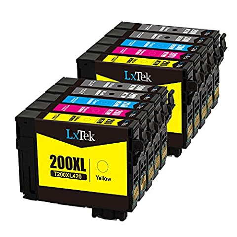 LxTek Remanufactured Ink Cartridge Replacement Set For Epson 200XL (4 Black|2 Cyan|2 Magenta|2 Yellow) 10 Pack T200XL120 T200XL220 T200XL320 T200XL420 Compatible With XP-310 XP-410 WF-2540 (Black Ink Epson 200xl)