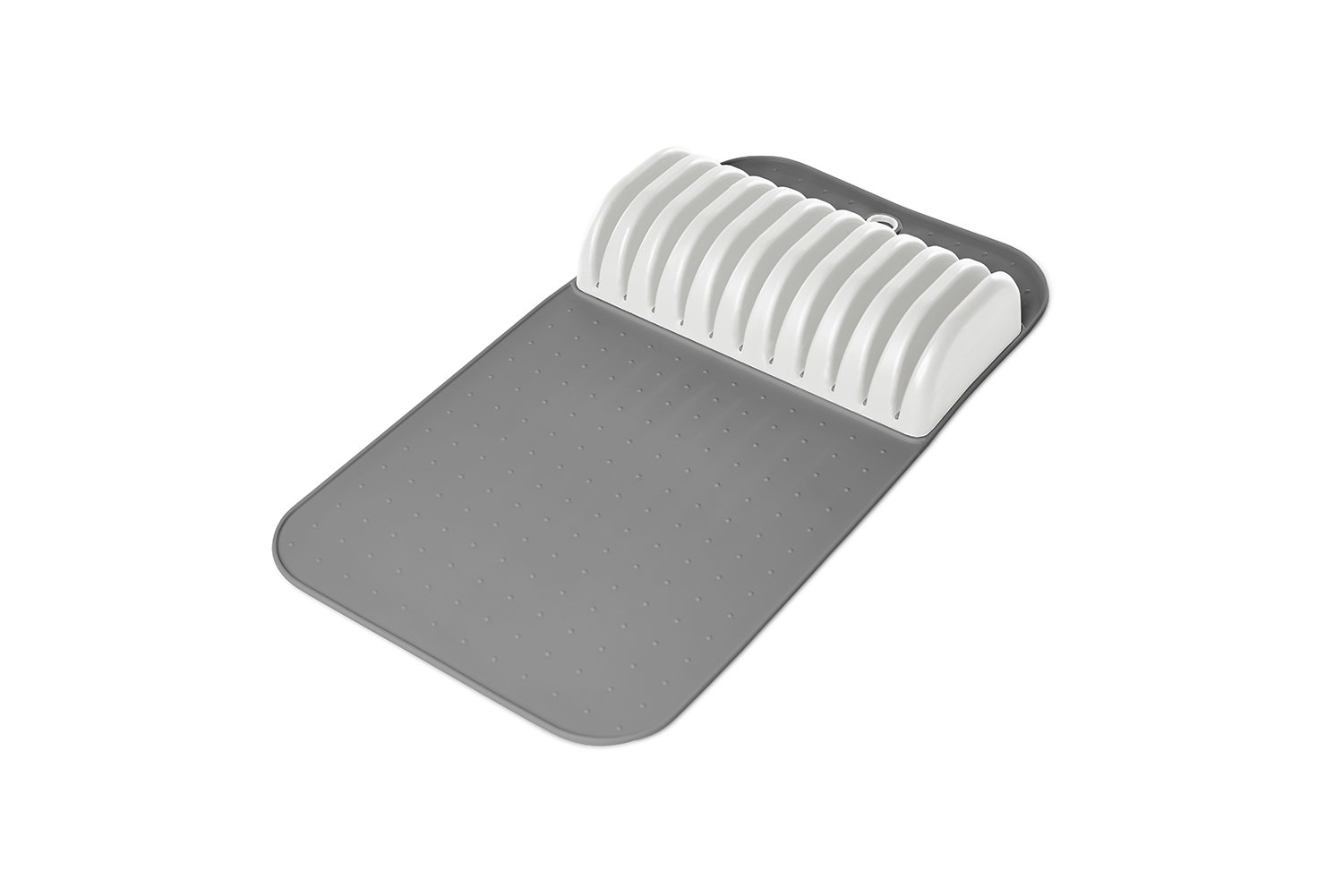 Madesmart - Safe in-Drawer Knife Mat with Soft Grip Slot in Grey Color, Holds up to 11 Knives