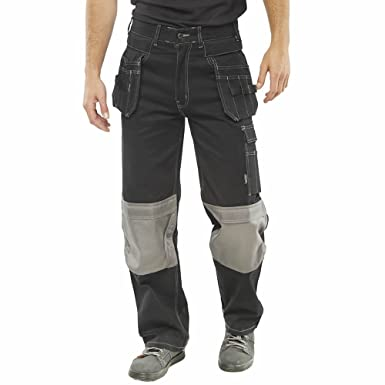 02307e9a30 Click Knee Protection Workwear Trouser for Men - Cordura Knee Pad Pockets  for Comfort and Protection, Unisex Multi Pockets Work Pants, Hardwearing  Working ...