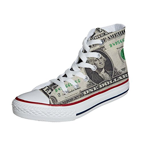 Customized personalisierte Converse Star All Schuhe Handwerk USA Produkt Dollaro qttCESW
