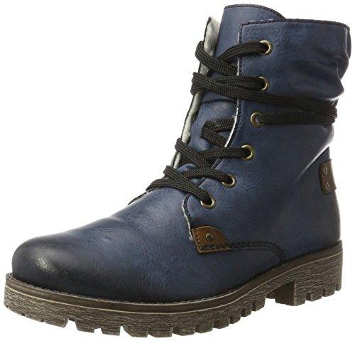 Rieker Damen 78530 Kurzschaft Stiefel Blau (ozean/mogano)