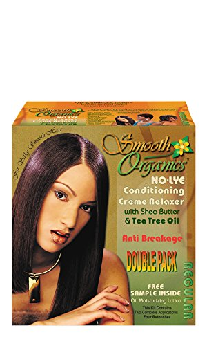 Healing Oil Infused Comb - Smooth Organics Original No Lye Relaxer Kit - Regular (2 Pack)