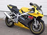 Yellow Silver with Black Complete Fairing Bodywork Aftermarket Painted ABS plastic Injection Molding Kit for 2001-2003 Suzuki GSXR GSX-R 600 750 2002