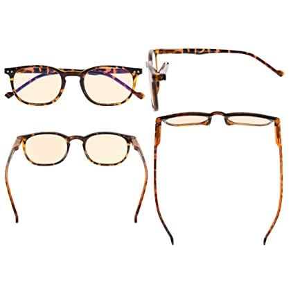 b3cdfb21f19d Eyekepper Vintage UV Protection Reading Glasses with Anti reflective  Coating 2.5 Strength Readers(Amber Tinted
