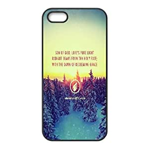 iPhone 5,5S Case,Elevation Church Christmas Message Hard Shell Back Case for Black iPhone 5,5S Okaycosama331397