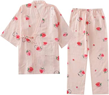 Kimono de Pijama de Mujer japonés camisón-rábano