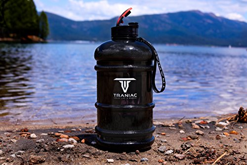 TRANIAC - Train Like A Maniac Leakproof Dishwasher Safe Lightweight Portable Tritan Water Bottle for Gym, Running, Training (2.2 Litre, Extra Large)