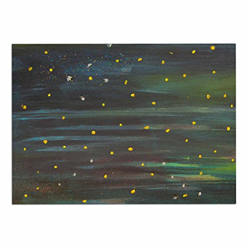 "KESS InHouse NL1073ADM02 NL Designs ""Star Fields"" Blue Green Dog Place Mat, 24"" x 15"" low-cost"