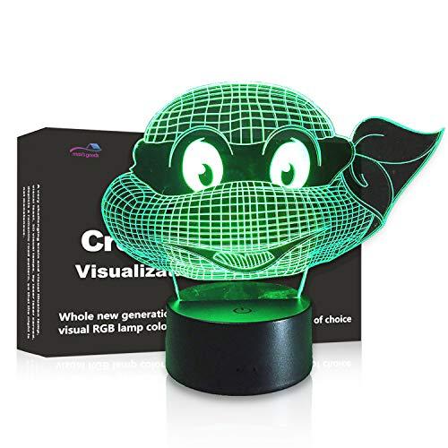 Ninja Turtles For Girls (3D LED Night Light Touch Table Desk Optical Illusion Lamp, 7 Colors Changing Lights, Boys Girls Birthday Gift (Ninja)