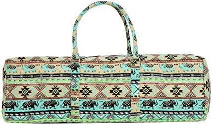 Yogi Path Yoga Mat and Gym Bag - Patterned Duffle Bag with Zipper and Pocket 68fd75544925e