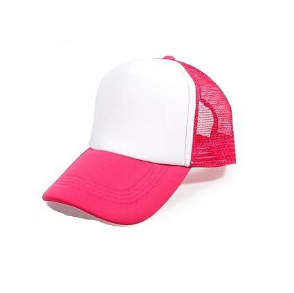 50fe2356069 Michelangelo Pink Mesh Baseball Cap Trucker Hat Half net Plain Curved Visor Hat  Black Baseball Caps