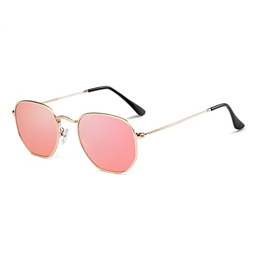 48f5d6b814b Small Polarized Sunglasses Men Women Round Hexagonal Metal Frame Sun Glasses