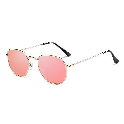 c97bcfbb03 Small Polarized Sunglasses Men Women Round Hexagonal Metal Frame Sun Glasses
