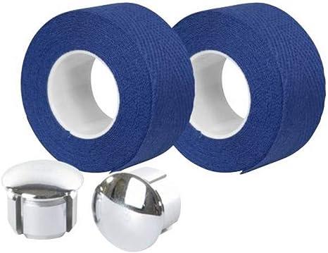 Motodak Cinta de Manillar Velox Trenzado 90 algodón Azul Rey 20 mm ...