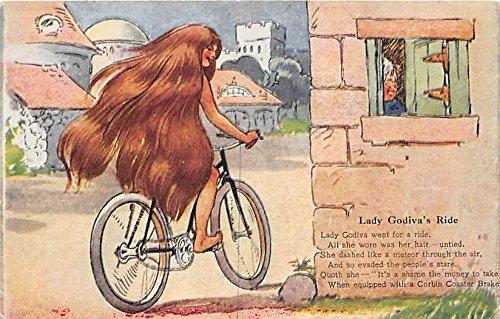 Lady Godiva's Ride Corbin Coaster Brake Bicycle Postcard ()