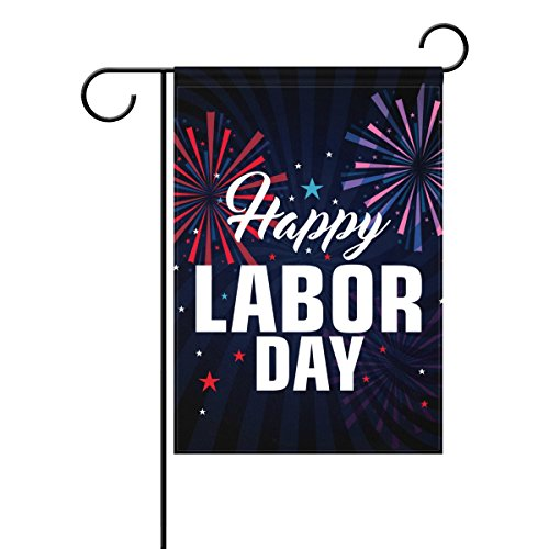 Cheap Cooper girl Worker Labor Day Personalized Garden Flag Victory and Liberation Waterproof Multicolor Polyester Fabric 28×40 Inches for Holiday Celebration