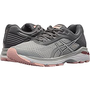 ASICS Women's GT-2000 6 Running Shoes, Mid Grey/Silver/Carbon 11