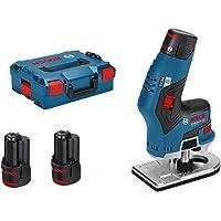 Bosch Professional Accukantenfrees Gkf 12V-8 (2 X 3,0 Ah Accu, 12 Volt, Freeskopas:8 Mm, Onbelast Toerental: 13.000 Min…