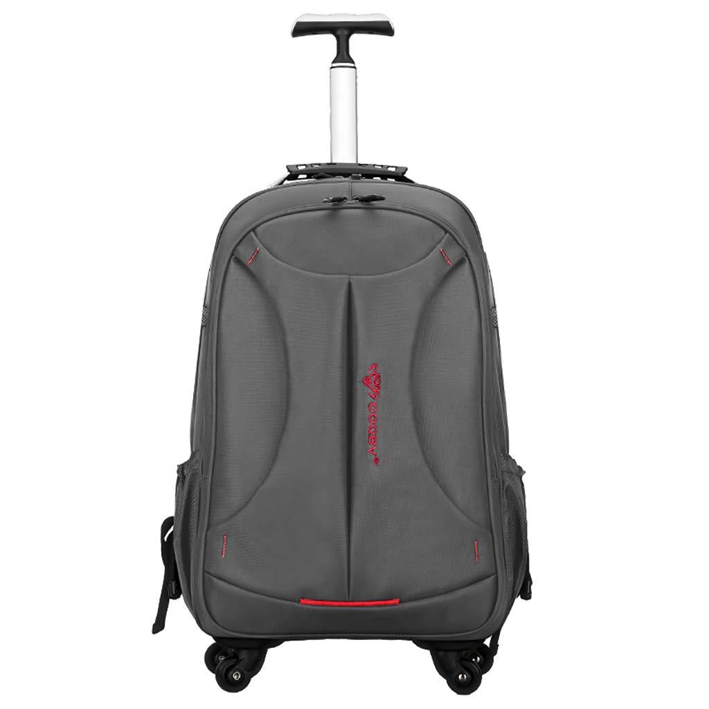 学校のラップトップバッグを旅する少年のためのトロリーバックパック大容量ストレージウィールドローリングバックパック防水旅の荷物   B07NMPTTN9