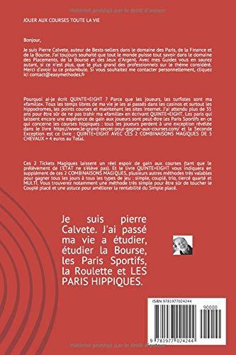 Amazon fr - LES 2 COMBINAISONS MAGIQUES DU QUINTE+ - pierre calvete