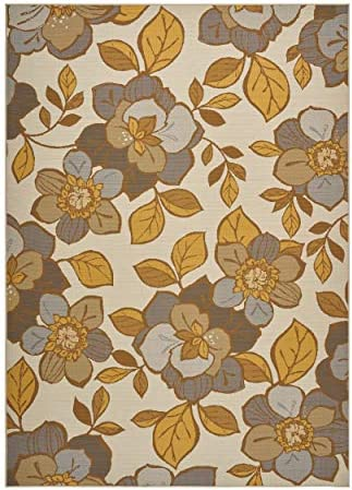 Christopher Knight Home Vincent Outdoor Floral 8 x 11 Area Rug
