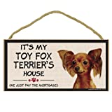Imagine This Wood Breed Decorative Mortgage Sign, Toy Fox Terrier